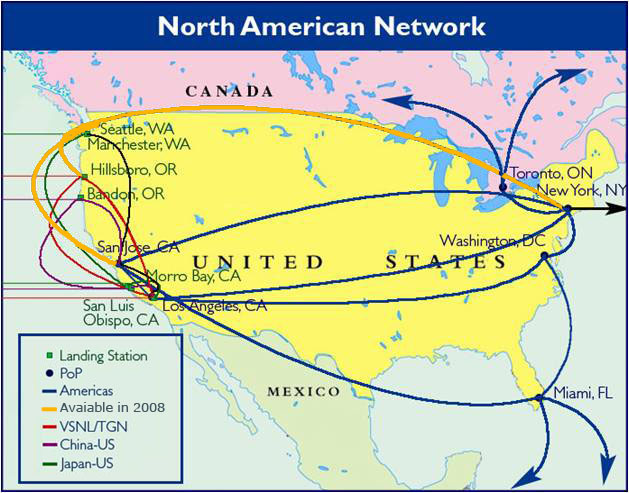 Resources China Telecom Americas - Us fiber map