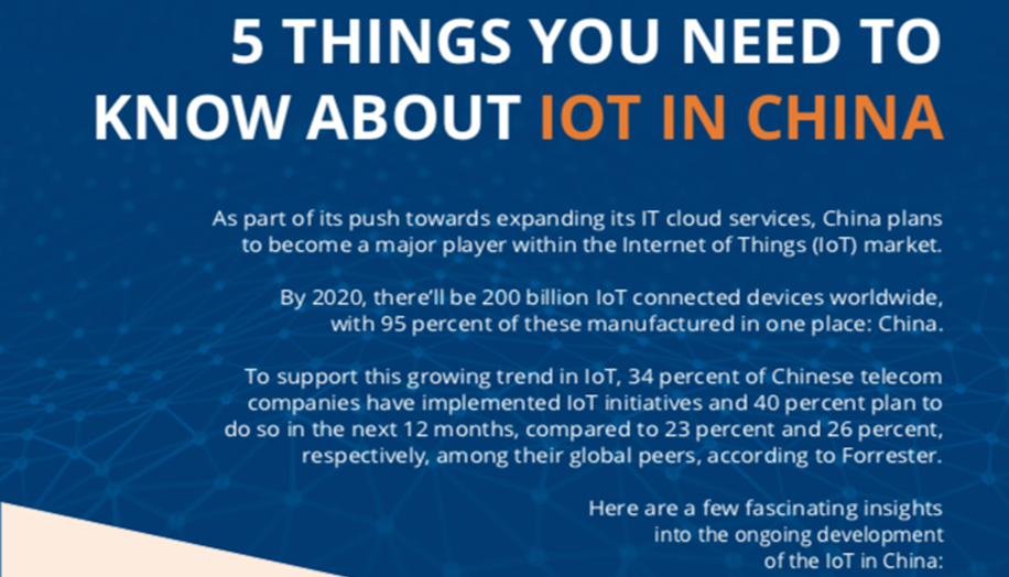 5 things about IOT in China