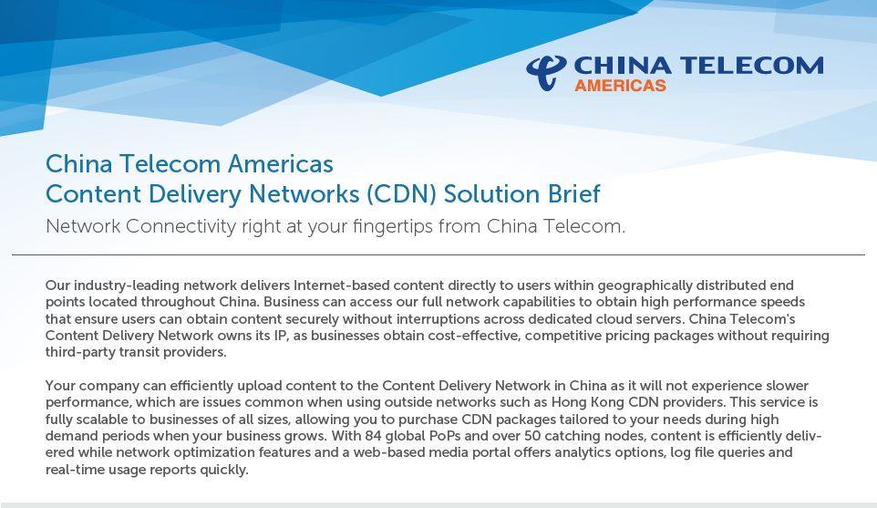 CDN Solution Brief